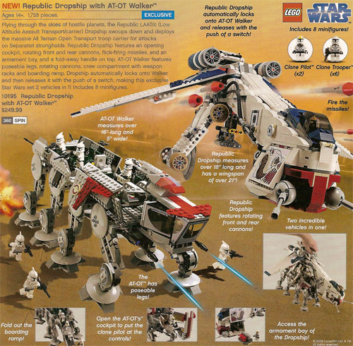 Lego Star Wars Republic Dropship with AT-OT Walker
