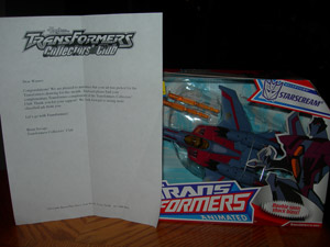 Transformers Collectors Club Classified Ad Prize